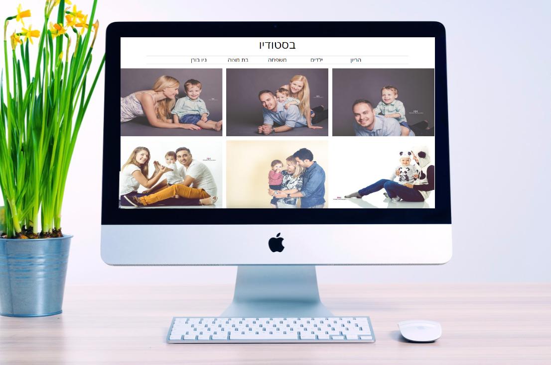 בניית אתר מקצועי לצלמים